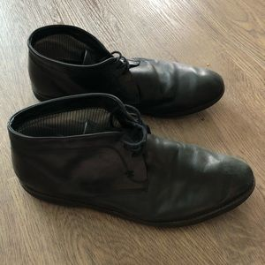 Black Leather High Top Dress Shoe